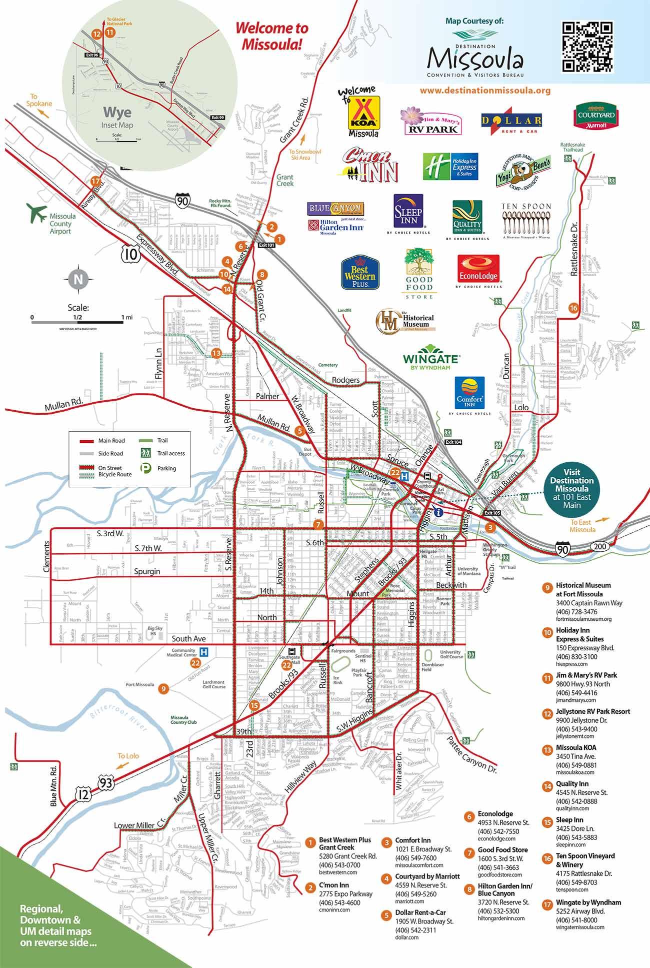Maps Destination Missoula