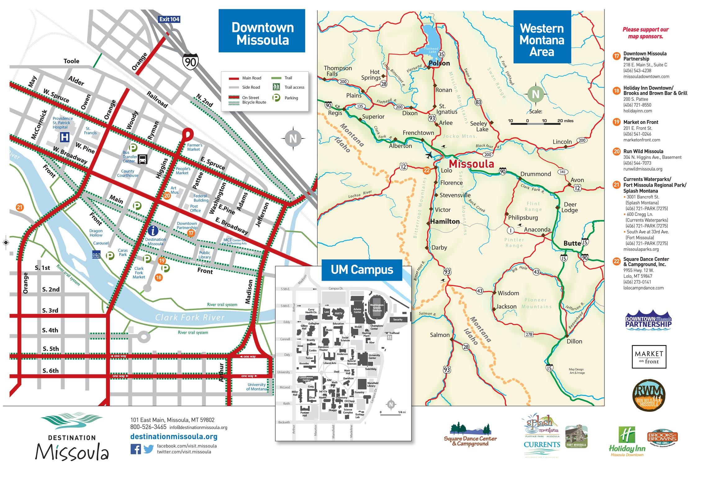 Missoula Mt Map Maps | Destination Missoula Missoula Mt Map