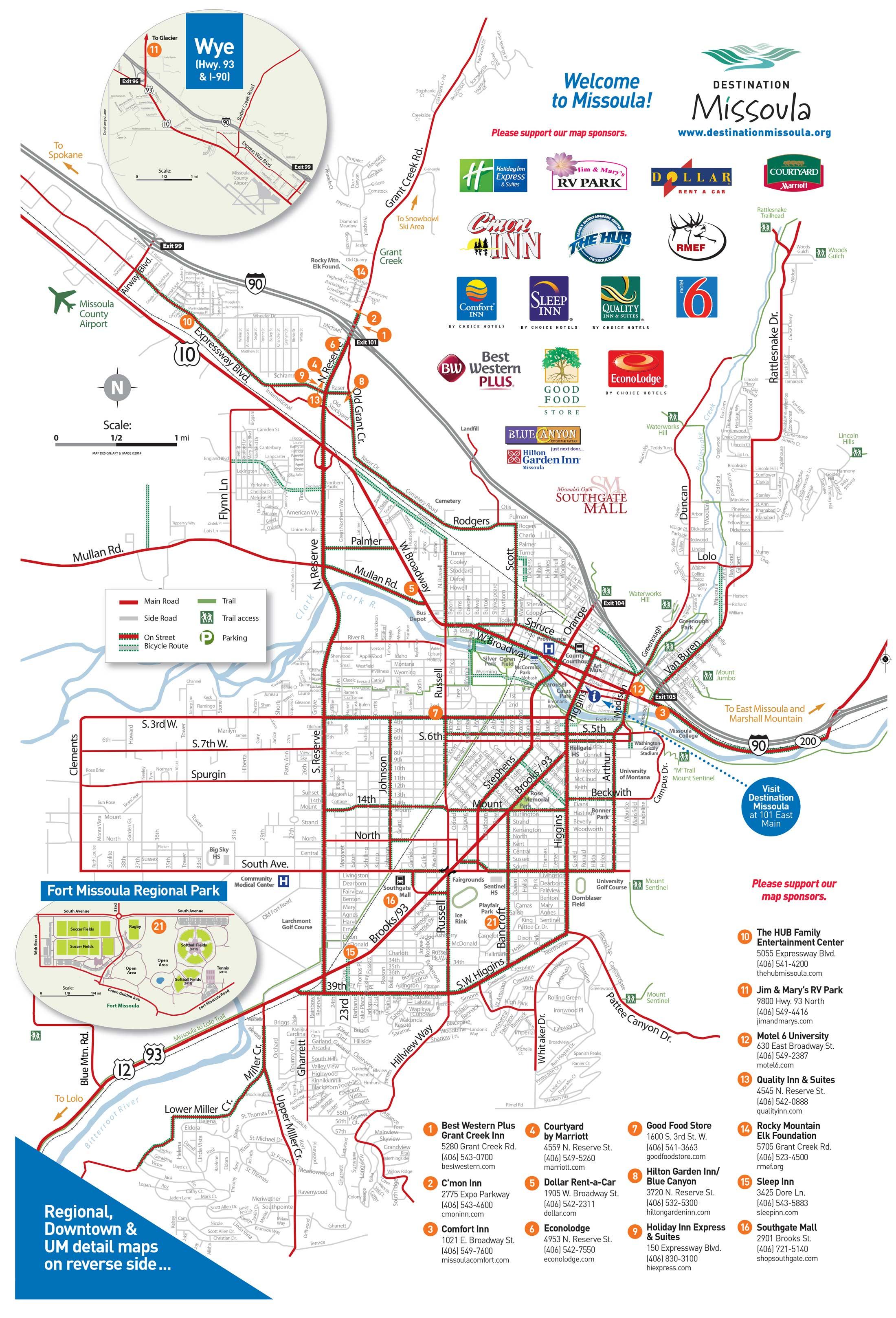 Missoula Montana Map Maps | Destination Missoula Missoula Montana Map