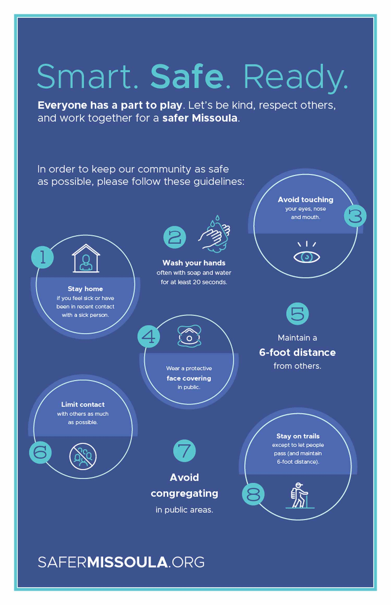 Safer Missoula Poster - safety procedures