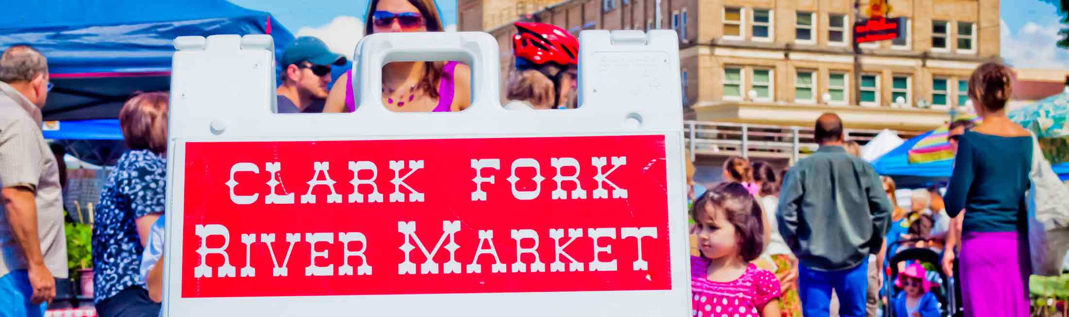 The Clark Fork River Market in Downtown Missoula