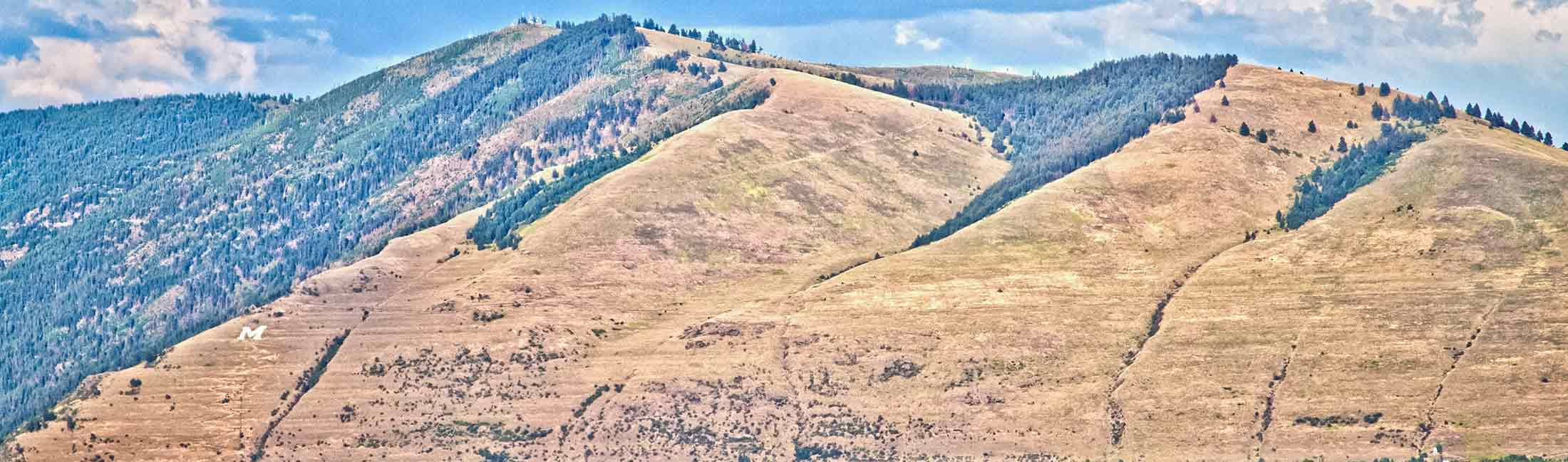 The lines in Mount Sentinel from Glacial Lake Missoula