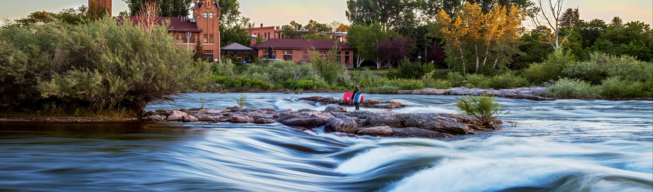 River Surfing in Missoula, Montana